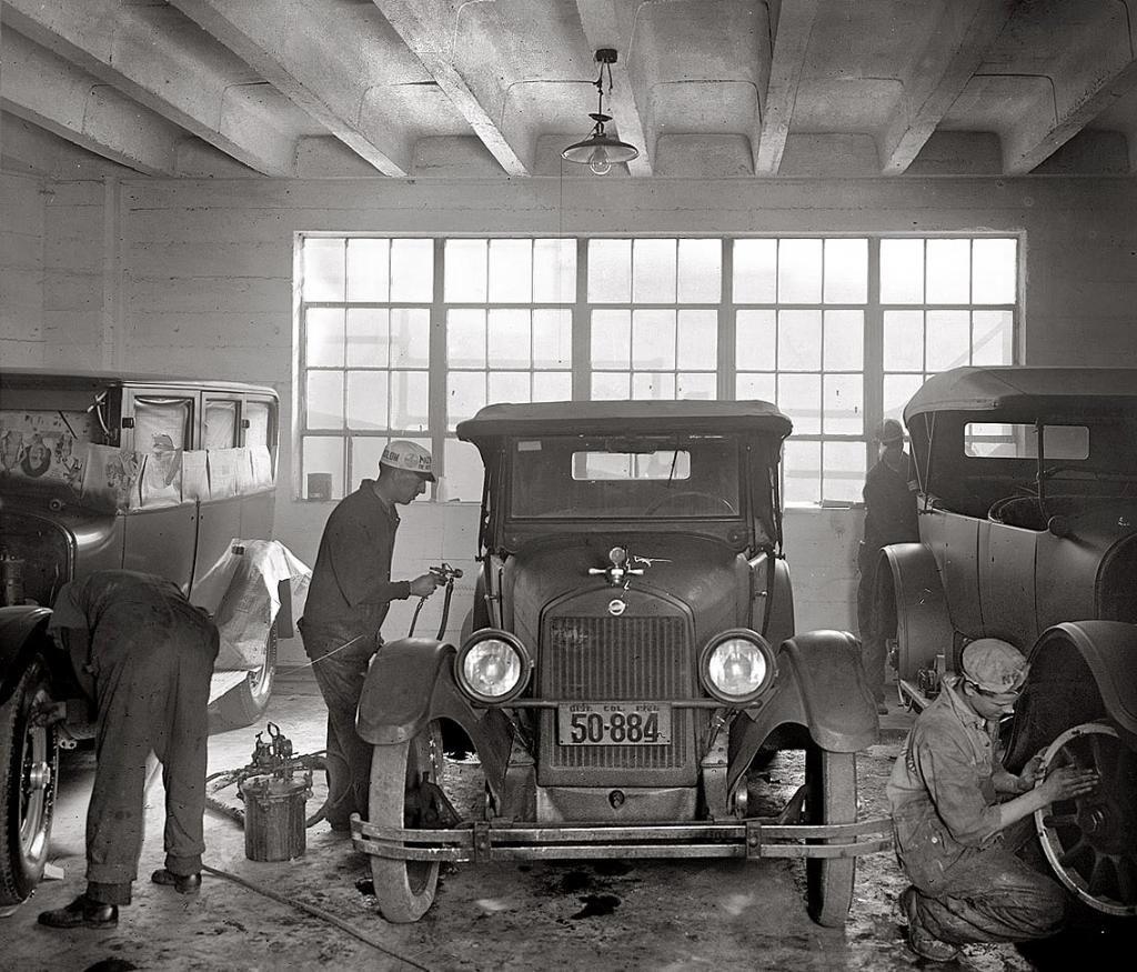 atelier de peinture 1926 les anciens garages et station sevice page 3 garage pinterest. Black Bedroom Furniture Sets. Home Design Ideas