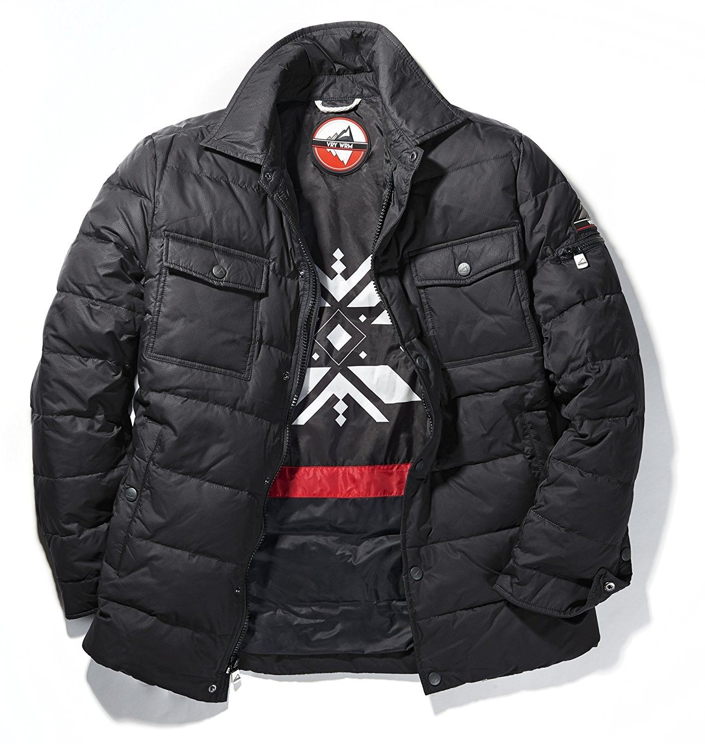 Men's Chill Down Quilted CPO Shirt Jacket - Black - CG17Y7INM67 | Mens  outfits, Jackets, Shirt jacket