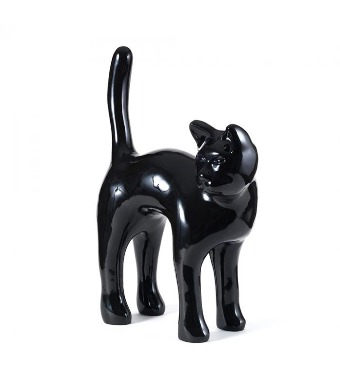 Statue Chat Noir - Sculpture Animal en Resine - 57 x 80 x 26 cm Description du modèle :Chat debout, couleur noire, hauteur totale 80 cm, finition vernie laquéeCaractéristiques :Référence du modèle : ART108Marque : AnimartdecoDimensions : 57 x 80 x 26 cm (Longueur x hauteur x largeur)Poids : 5,30 Kg
