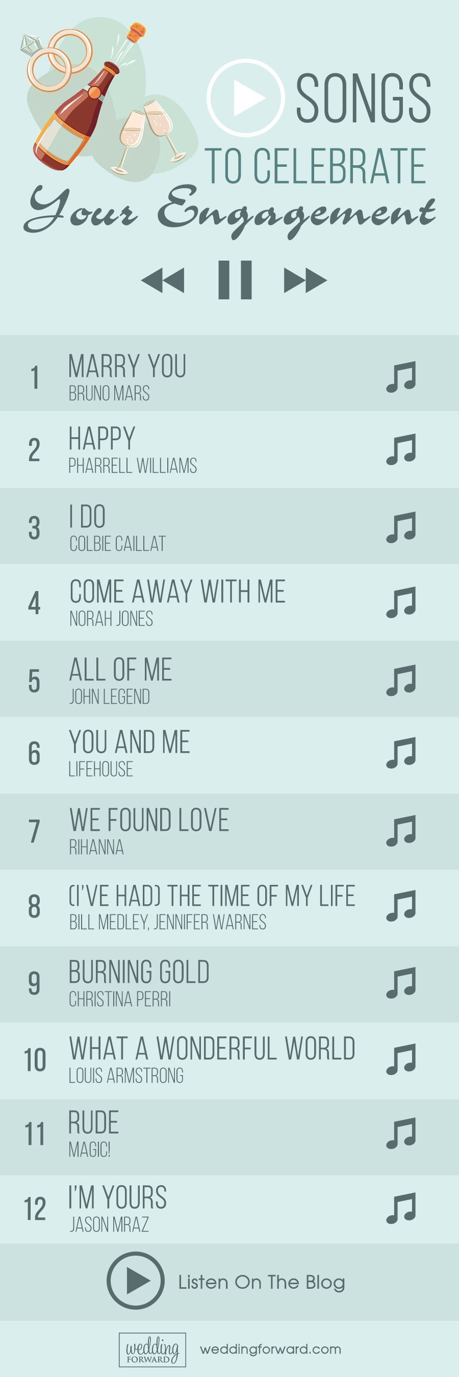 65 Top Engagement Songs For A Celebration | Wedding Forward