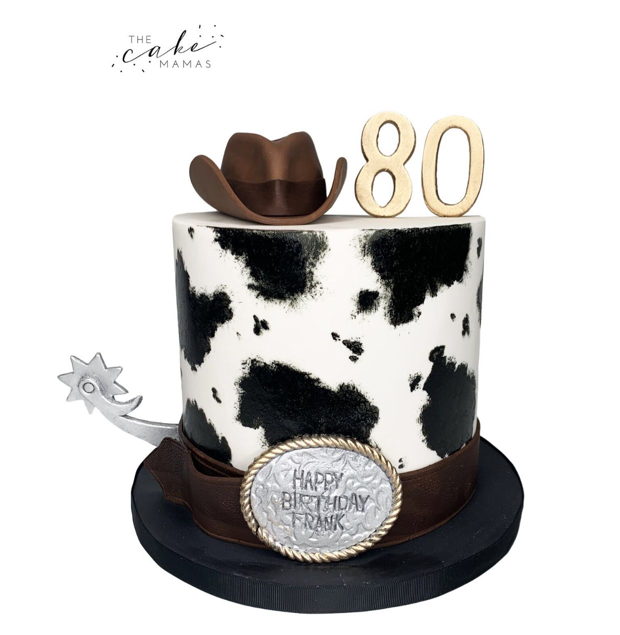 Pleasant Cowprint Country Western 80Th Birthday Cake Call Or Email To Funny Birthday Cards Online Barepcheapnameinfo