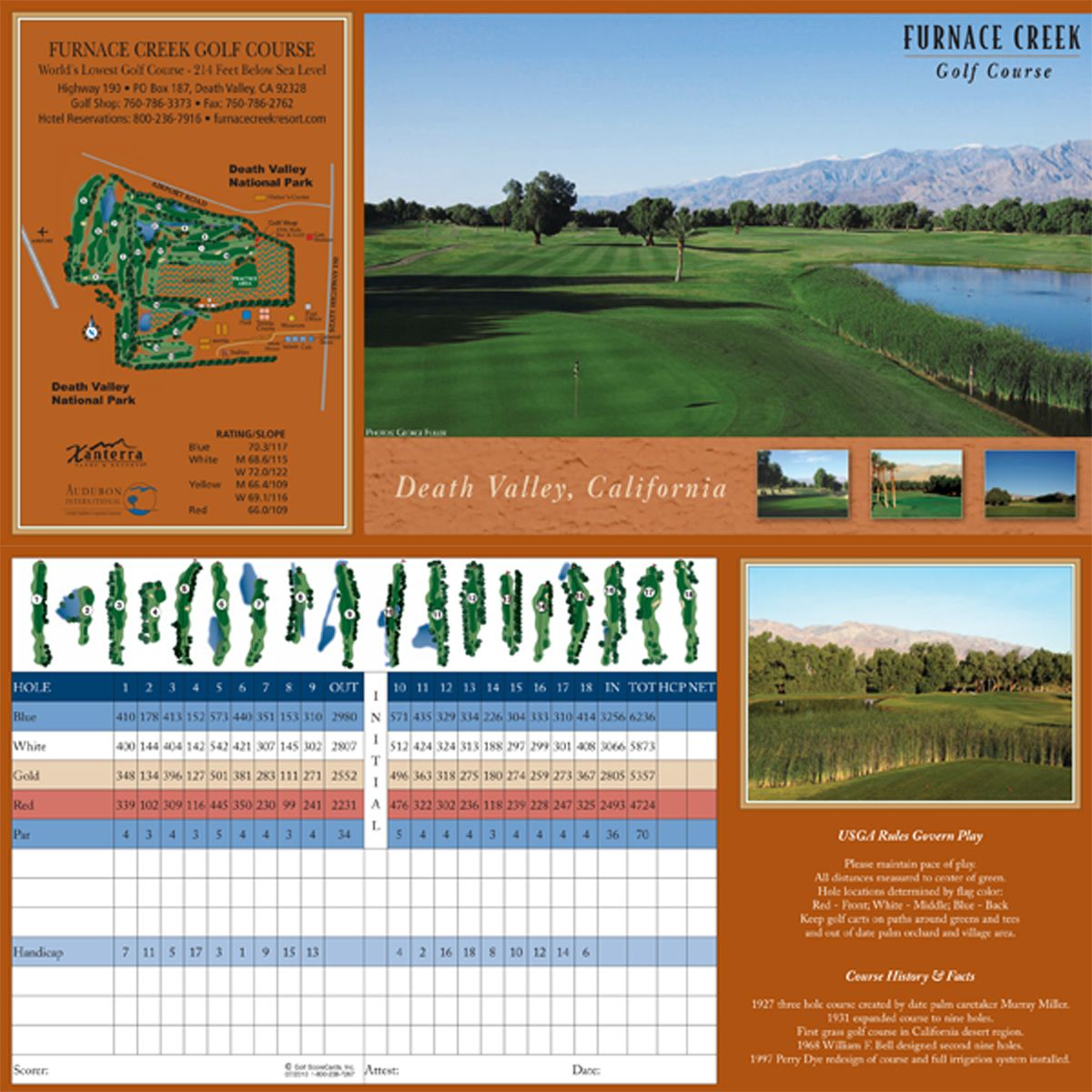 Furnace Creek Resort Death Valley CA good lowest course in US