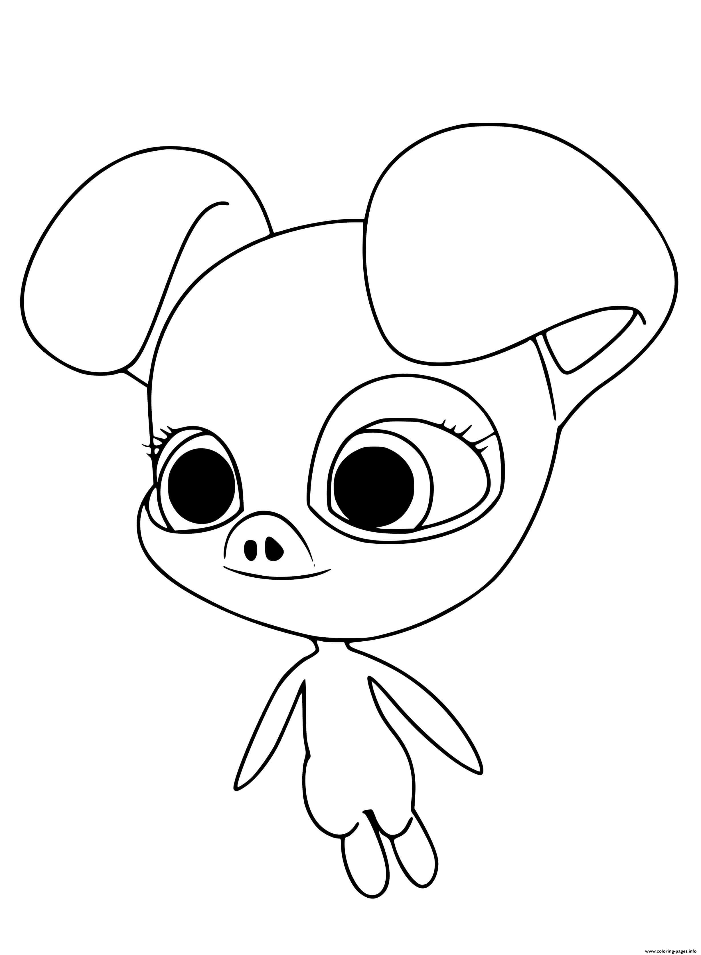Print Daizzi Kwami Coloring Pages In 2020 Ladybug Coloring Page Drawings Miraculous Ladybug