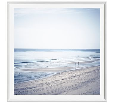 Bay Blues Framed Print by Cindy Taylor, 48x48\