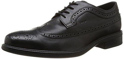 Geox U DUBLIN B - Business de cuero hombre, color negro, talla 47