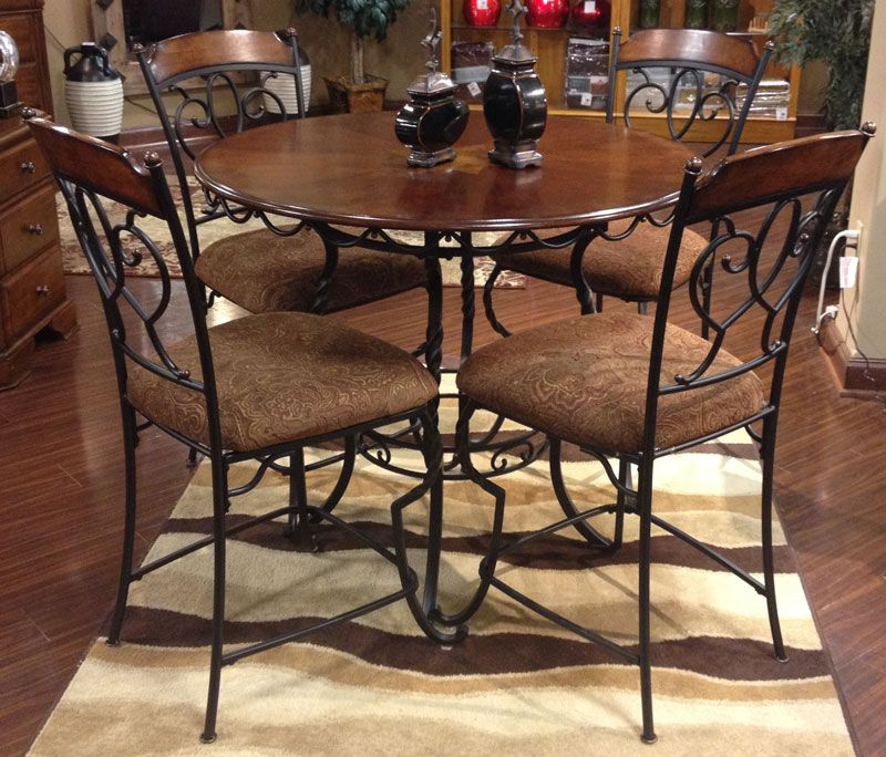 Enjoyable Nola Dining Table 4 Side Chairs The Ornate Beauty Of The Bralicious Painted Fabric Chair Ideas Braliciousco