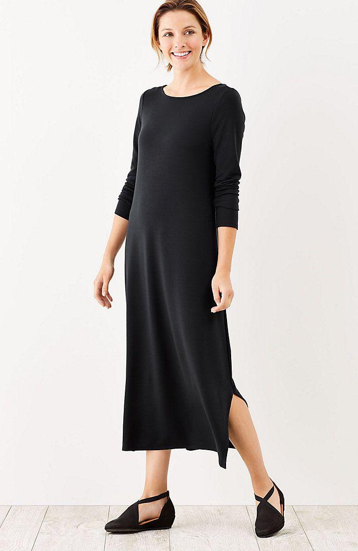763d9741b05 Pure Jill Luxe Tencel® dipped-hem dress