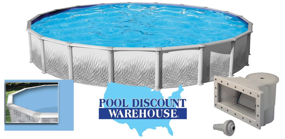 27 39 Round Hamilton Above Ground Pool W Blue Liner And Deluxe Wide Mouth Skimmer Pool Discount