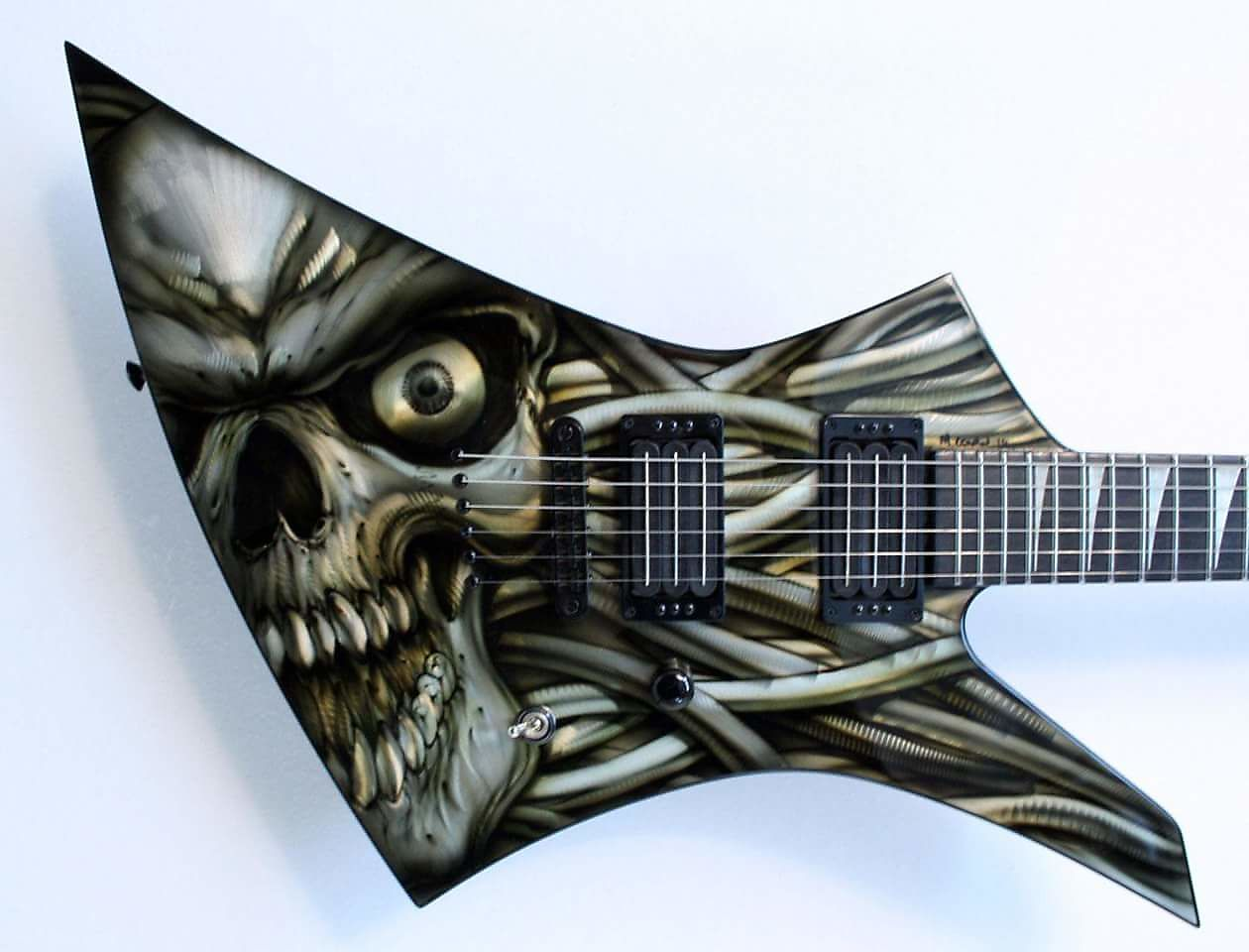 2011 Jackson Kelly Custom Shop NAMM show, metal top art by Mike ...