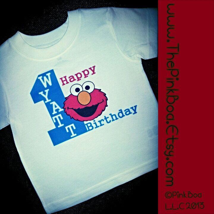 3f7602697d13 Elmo 1st Birthday Shirt Boy 1st Birthday by LivAndCompanyShop ...