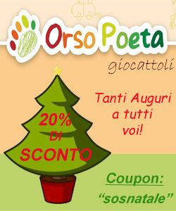 Sconto del 20% su tutti i giocattoli sul sito www.orsopoetagiocattoli.it