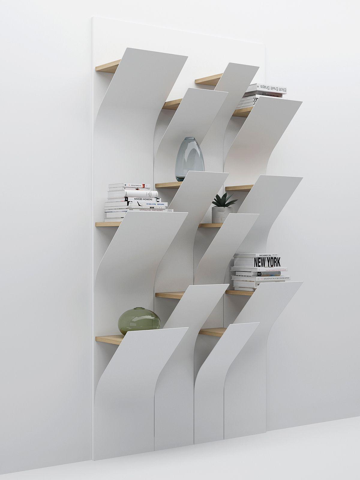 Squama On Behance Bookshelf Design Multipurpose Furniture