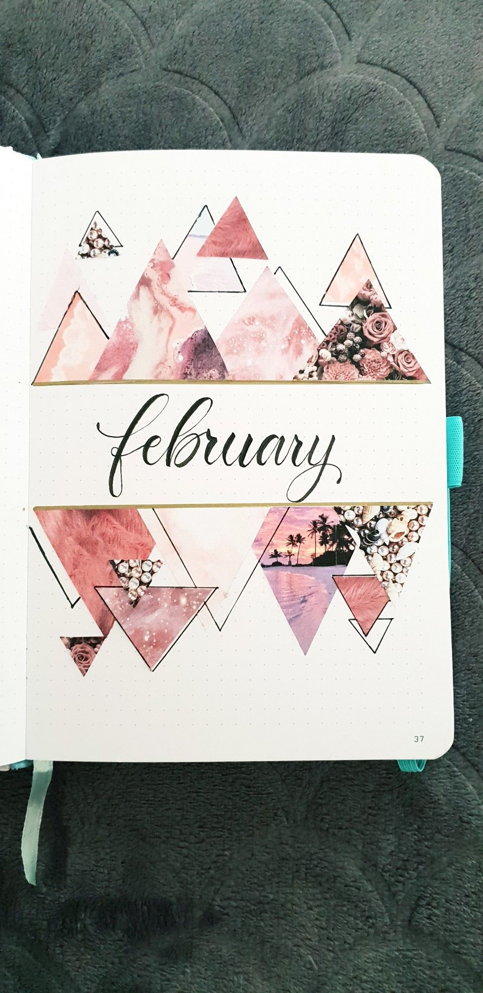 February monthly cover page Bullet Journal