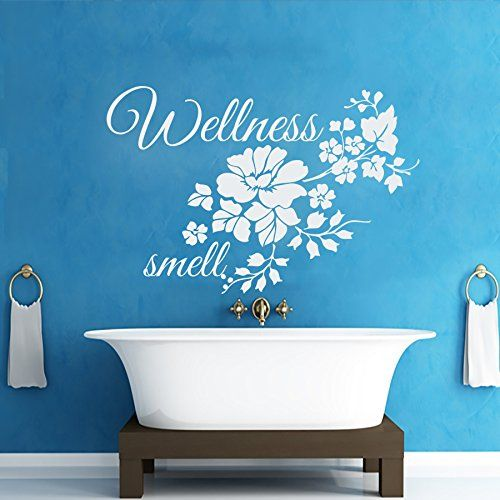 wall decals flowers wellness smell decal vinyl sticker bathroom window nursery children bedroom home decor interior art murals to view further for this