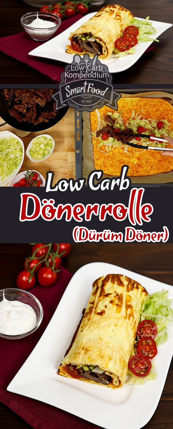 Dönerrolle Low-Carb - Heute haben wir ein Low-Carb Rezept, dass zwar etwas mehr Aufwand benötigt aber dafür ein echter Gaumenschmaus ist. Die Dönerrolle Low-Carb auch bekannt als Dürüm Döner ist wirklich fantastisch! #dietmenu