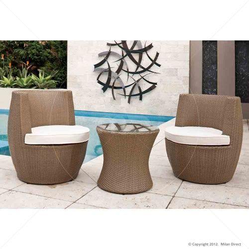outdoor rattan wicker stacking vase 3pc set natural garden pinterest rattan - Outdoor Set
