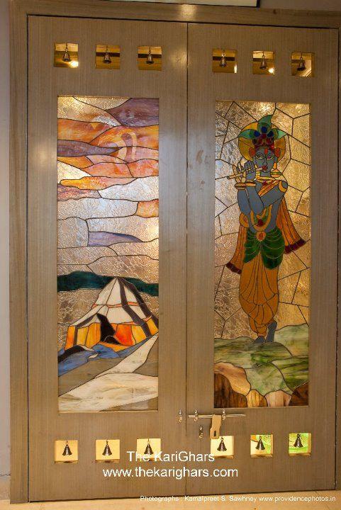 Glass Painting Pooja Room Door Design Room Door Design Pooja Room Design