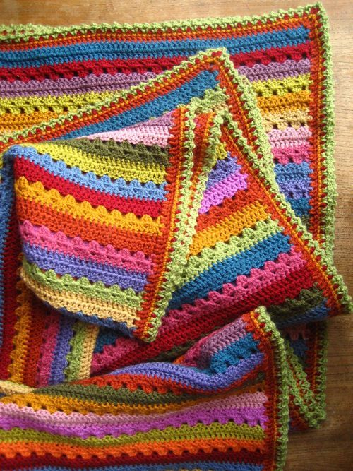 Cosy Blanket Edging | Pinterest | Manta, Ganchillo y Tejido