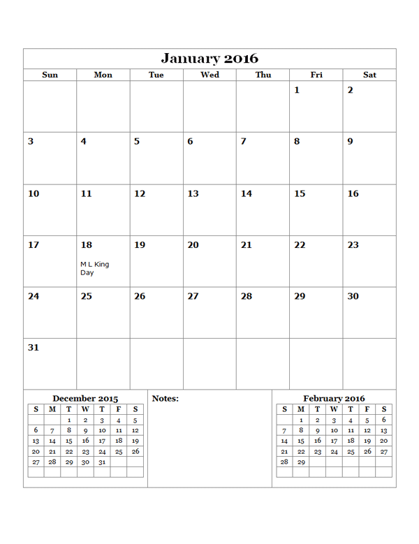 2016 Monthly Calendar Jan Dec Calendars Pinterest Monthly