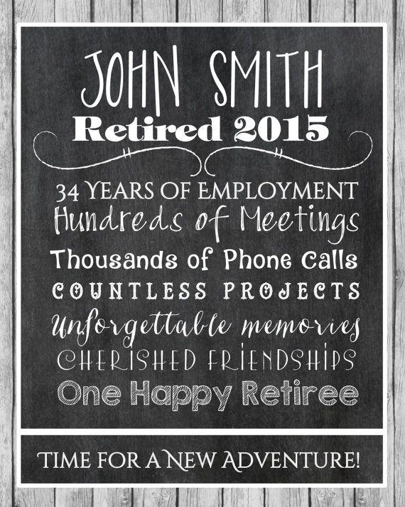 retirement print retirement gift retiree gift retirement present