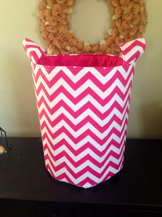 Extra large pink chevron fabric by PreciousSmiles on Etsy