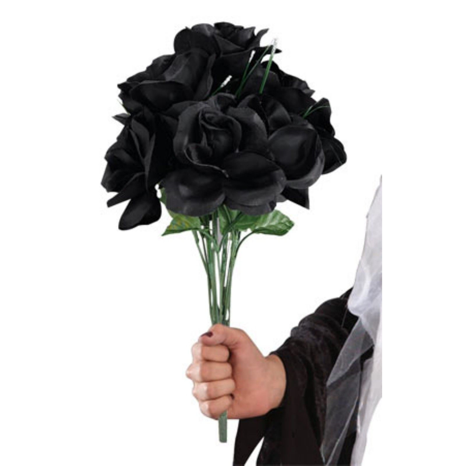 Real black rose bouquet the image kid for How to make black roses