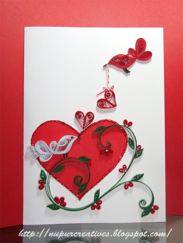 Nupur Creatives Cards Valentines Pinterest Quilling