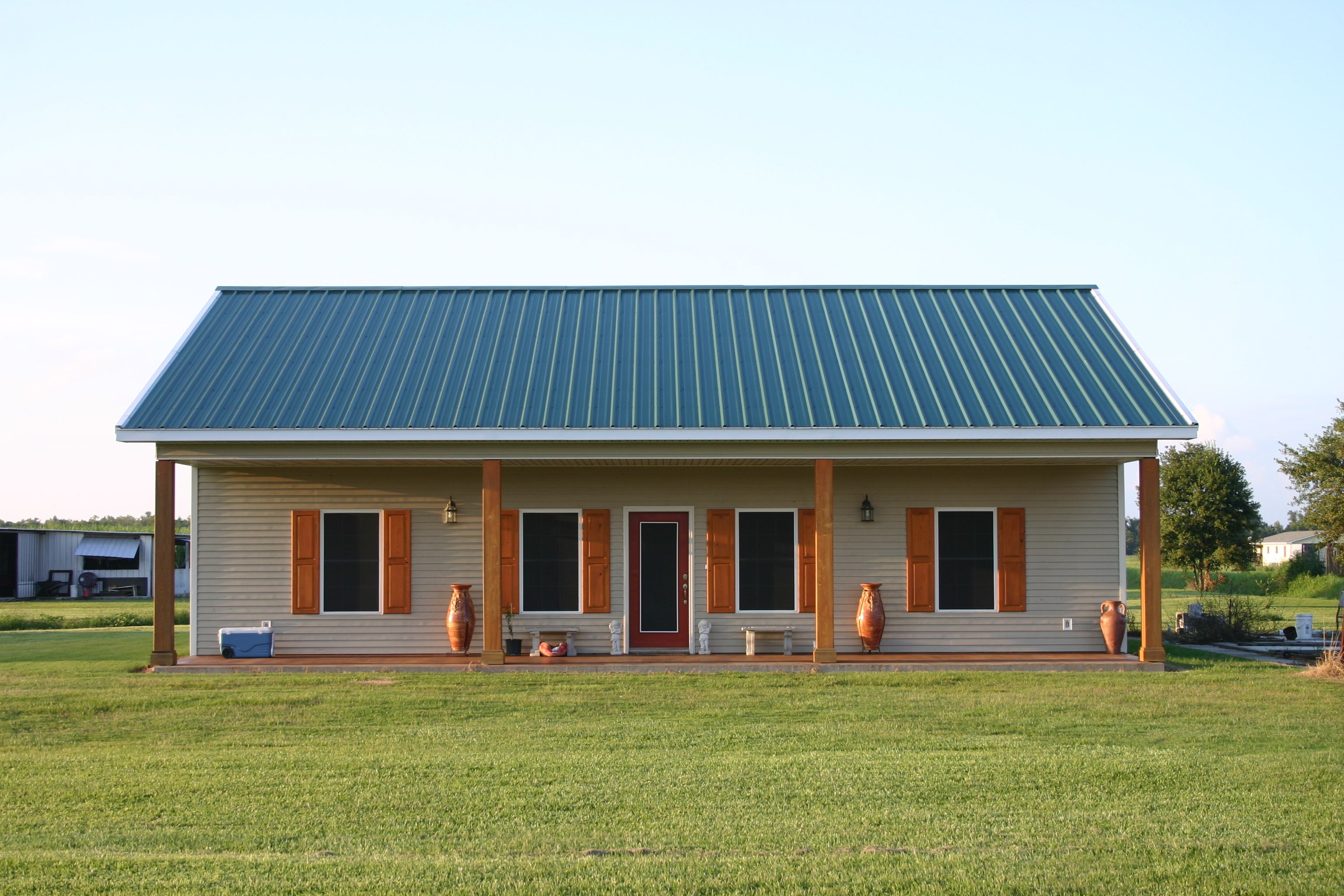Autumn View model steelhomes homes Metal barn homes