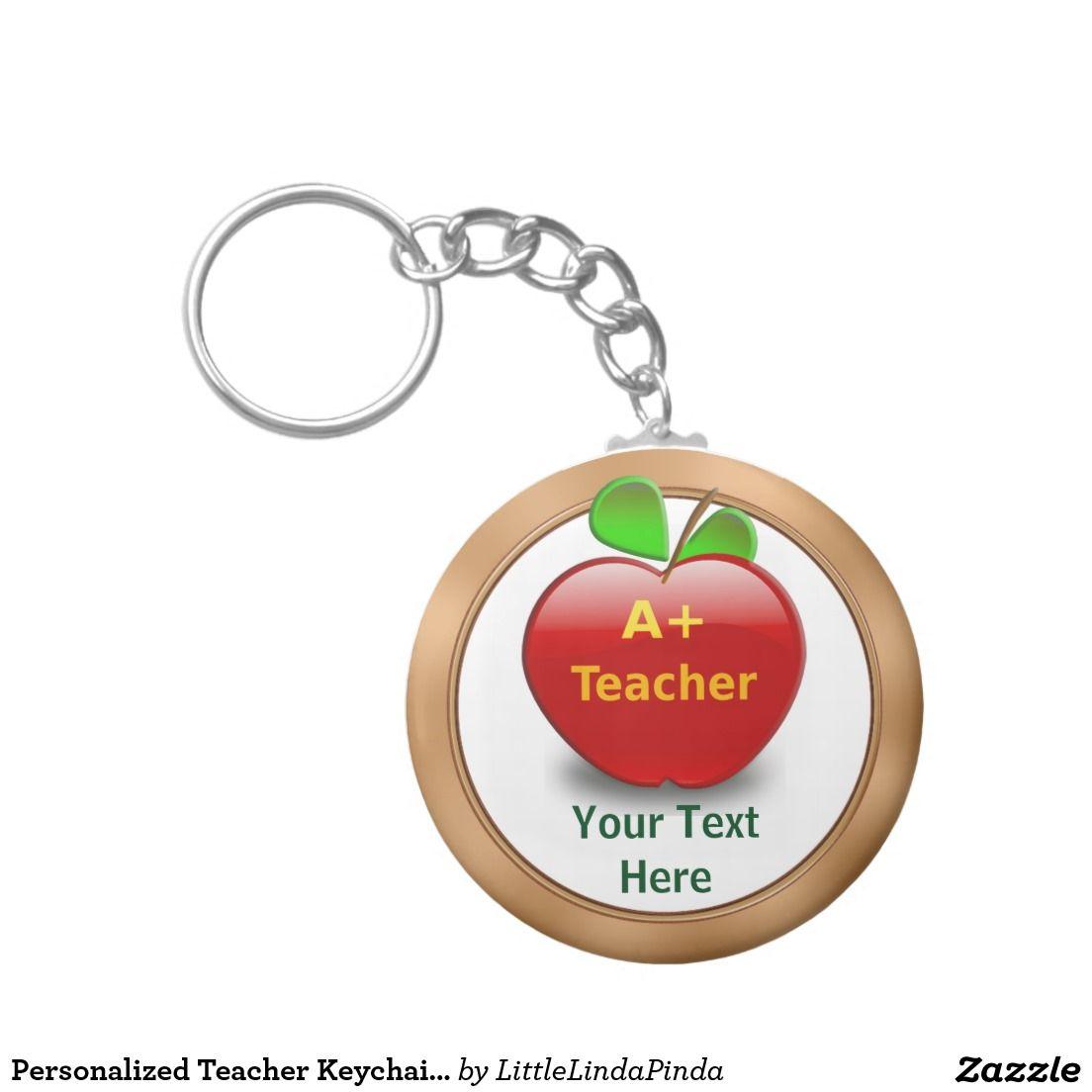 personalized teacher keychains no minimum or bulk teacher gifts