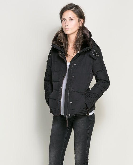 Loving this jacket too, for fall/winter! SHORT PUFFER JACKET from ...