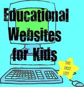 top educational websites for kids...luke LOVES starfall