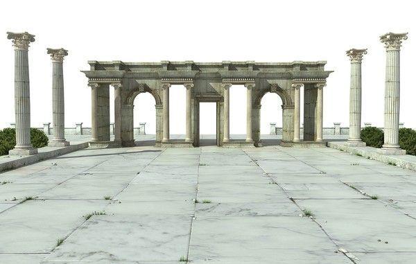 3d greek architecture 3d model ancientgreekarchitecture ancient