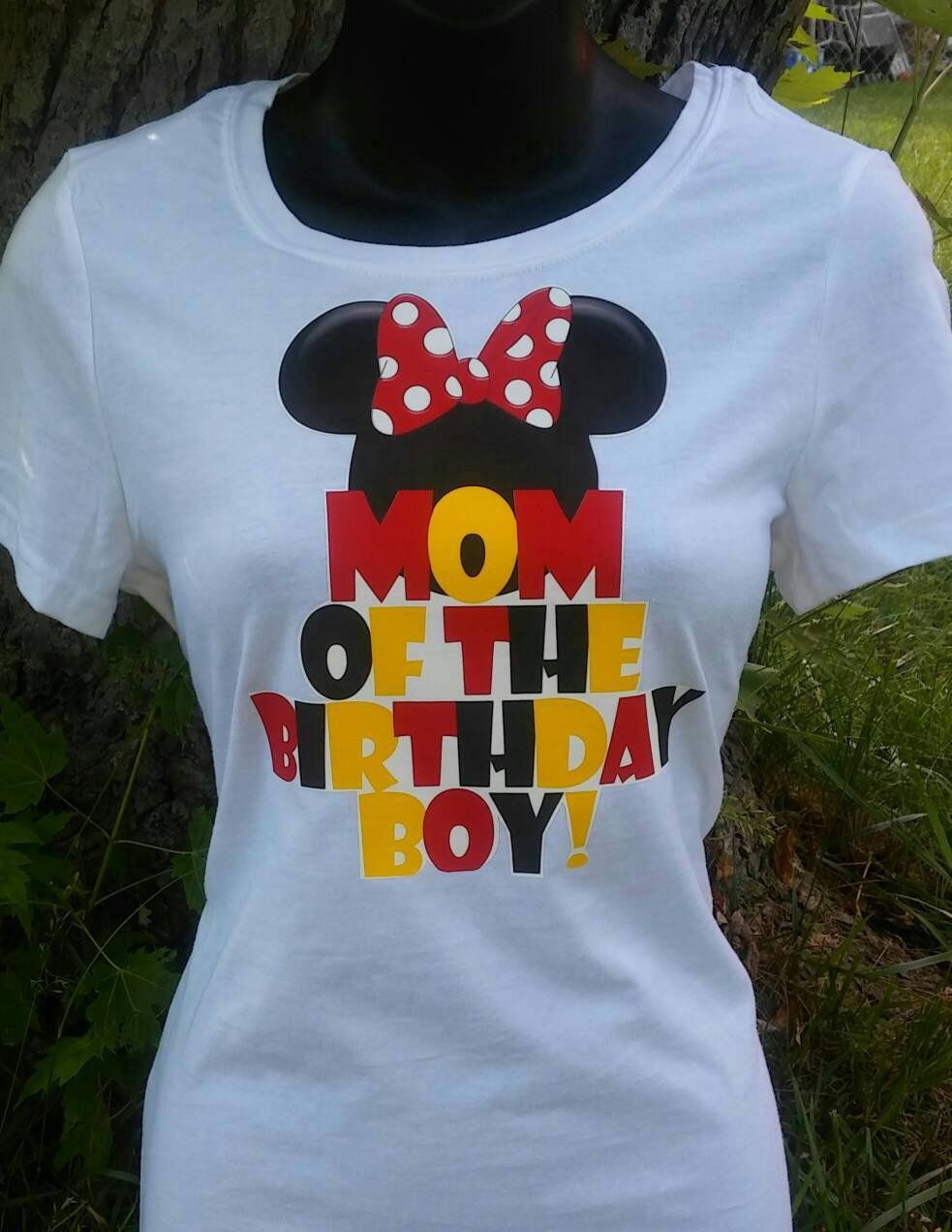 Mom Dad Of The Birthday Boy Mickey Minnie Mouse T Shirt