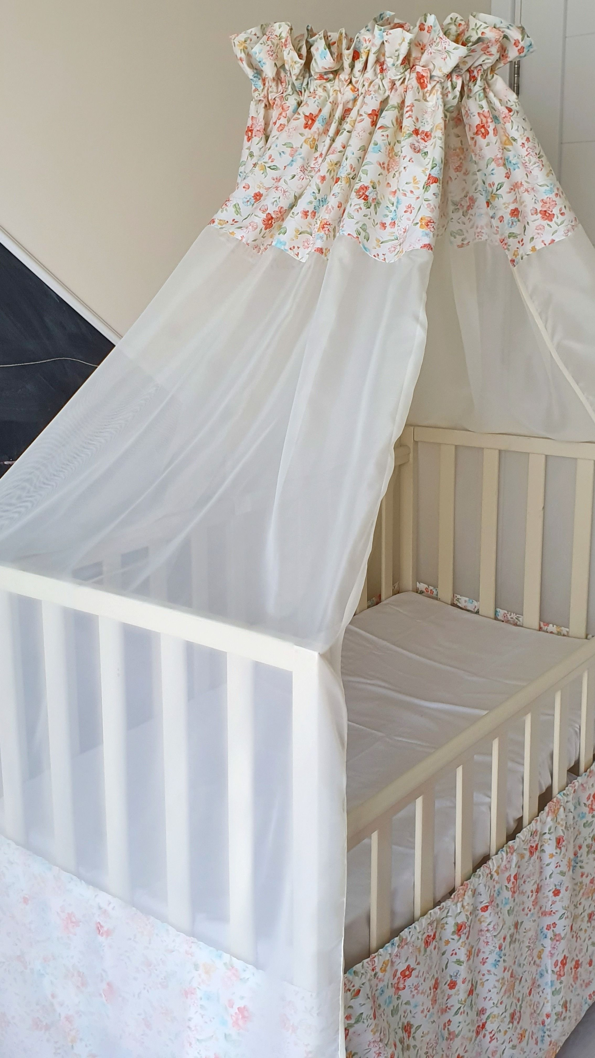 Floral Canopy Crib Canopy Bed Canopy Hanging Canopy Shabby Chic Nursery Decor Baby Shower Gift Nursery Canopy Cotton Crib Canopy Crib Canopy