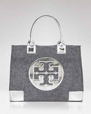 172e113a481 My winter purse ;) Tory Burch gray flannel tote | My Style | Tory ...