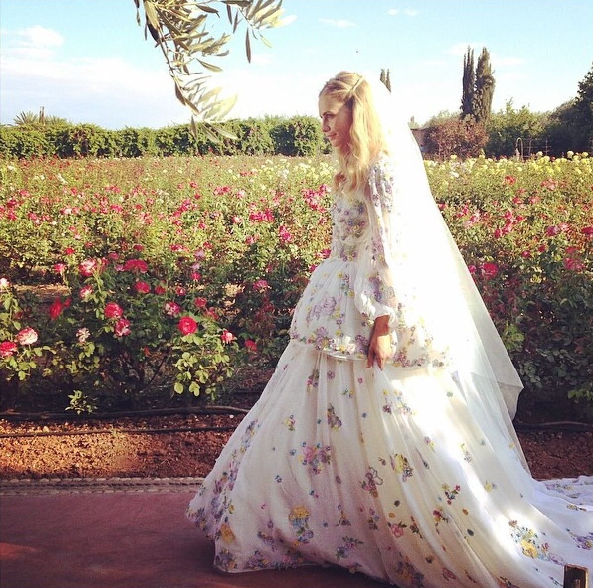Poppy Delevingne In Emilio Pucci Wedding Dress Marrakech