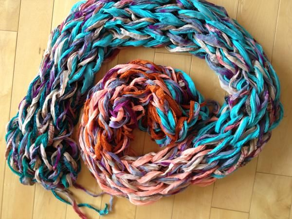 Arm Knitting a Scarf Pattern Kit | Arm knitting scarf, Arm ...