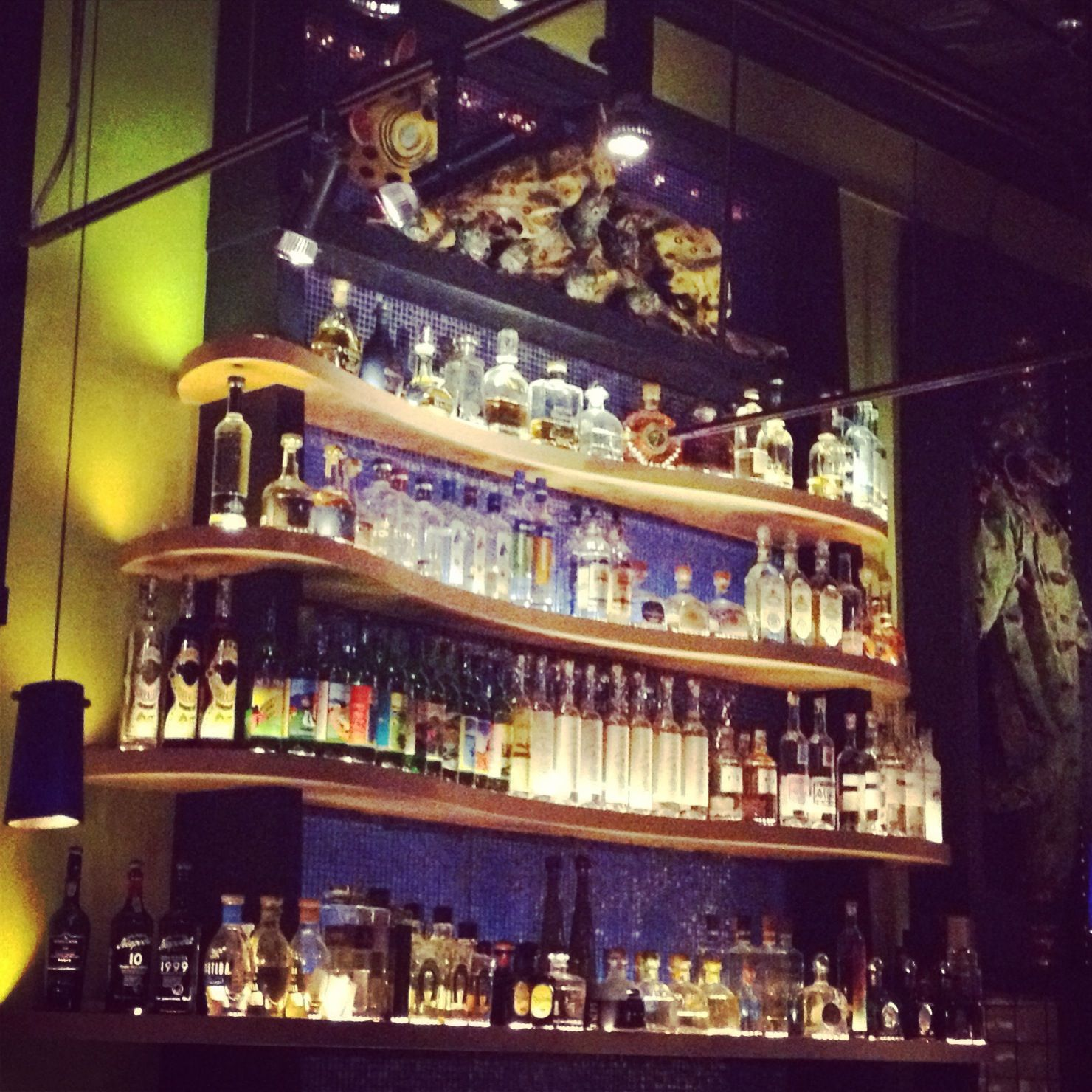 Bar at Frontera Grill in Chicago. The topolo margarita is the best!