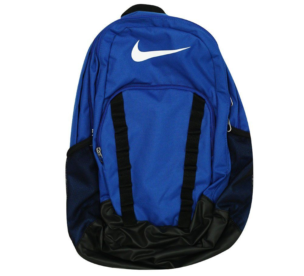 f4e087783747 Nike Brasilia 7 Backpack Game Royal Black White Size X-Large. Adjustable  padded shoulder straps for a comfortable fit. Dual zippers at three main ...