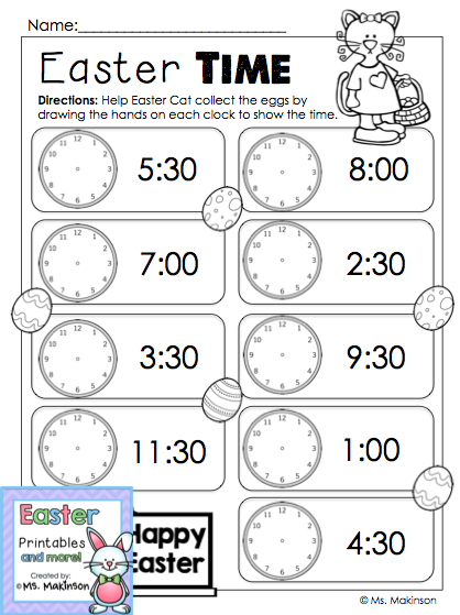 Easter Printables Time Pinterest Maths Classroom And Teaching