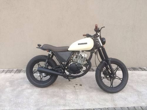 suzuki gn125 tracker cafe racer custom brat motos. Black Bedroom Furniture Sets. Home Design Ideas