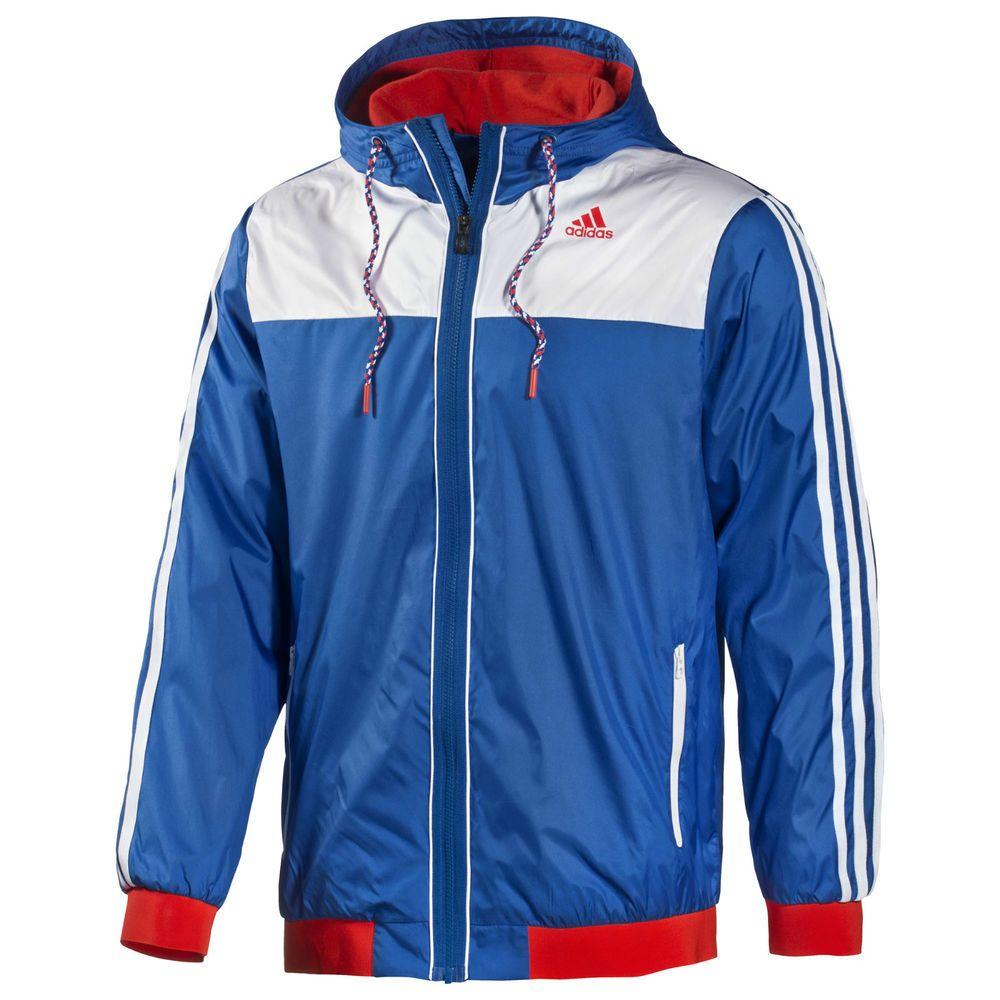 a9494aafe Adidas Sport WB Pride Mens Waterproof Raincoat Outdoor Jacket D88507 Blue  Red