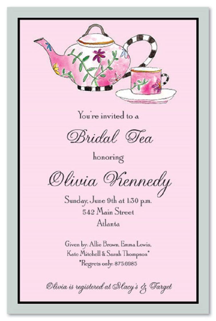 Casual Tea Party Invitation Wording