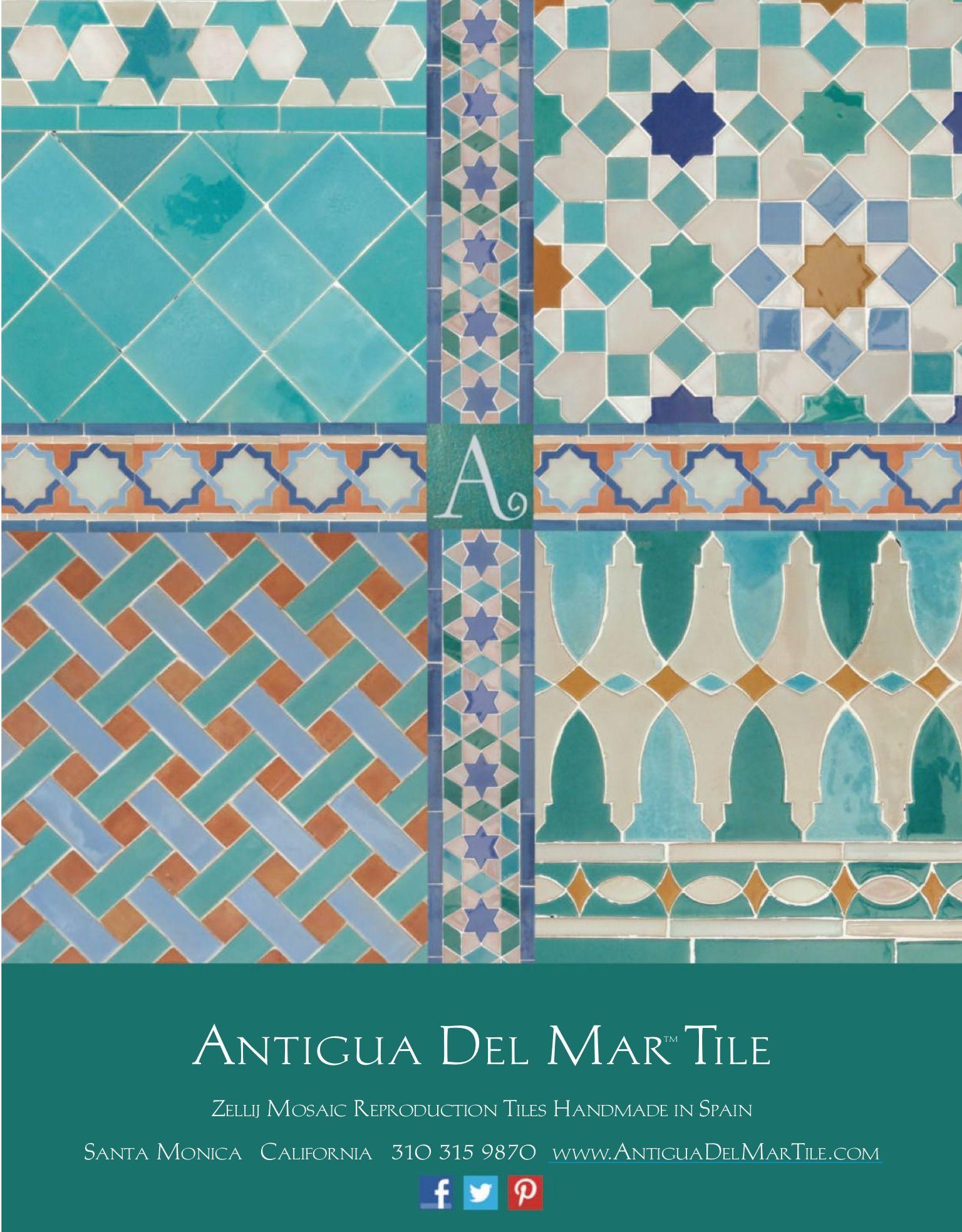 Antigua Del Mar Tile Textures
