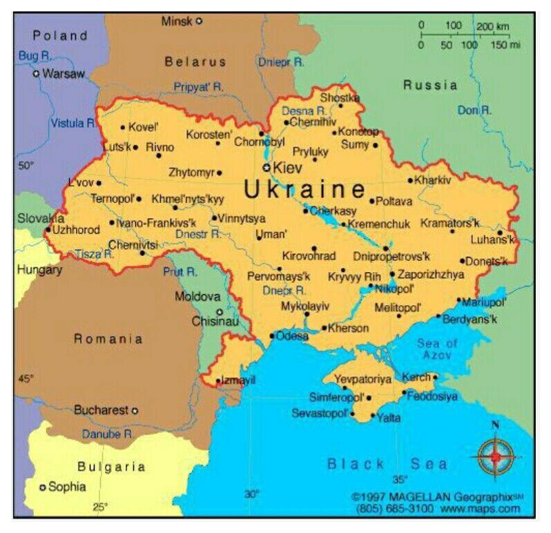 Map of Ukraine 🇺🇦 in 2020 Ukraine, Social studies, Map