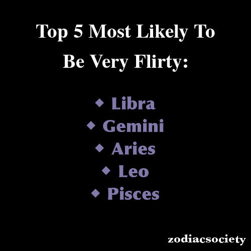 Zodiac Signs: Top 5 Most Likely To Be Very Flirty