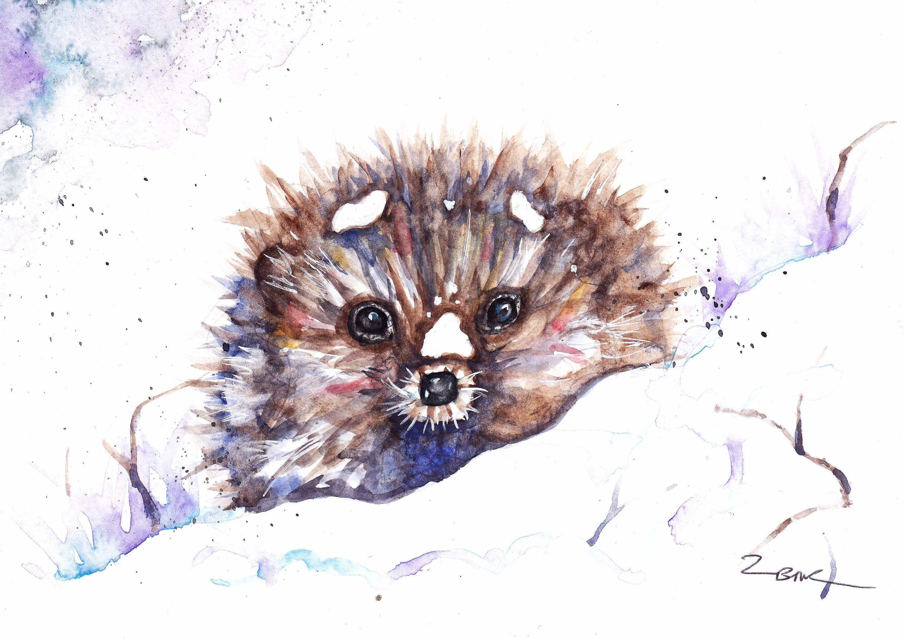 wall Sale,Original Print Gift Card Watercolour Bee Wildlife,Animal,Art