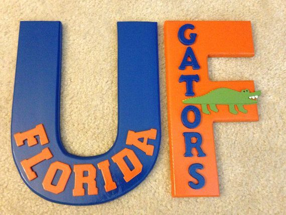 Wooden UF Florida Gators Collegiate Sports Room Decor, Change To UWL