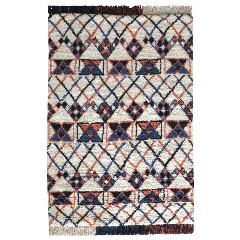 Tapis De Salon Style Berbere Laine Multicolore Kasoon Tapis