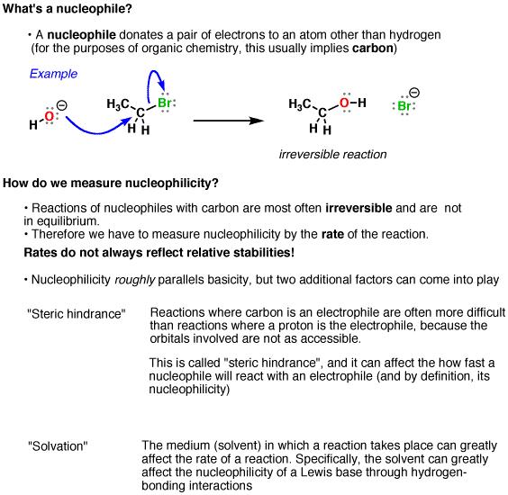 Nucleophilicity Vs Basicity Organic Chemistry Chemistry
